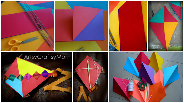 Paper kite with straws