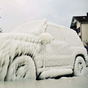 Frozen Car Door