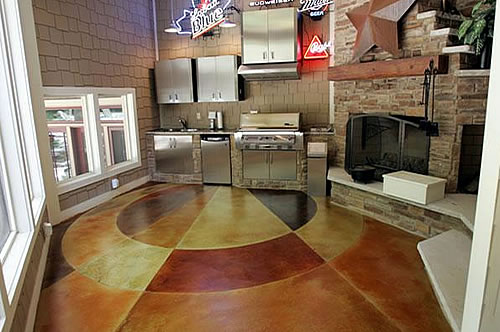 Add Warmth to the concrete Floor
