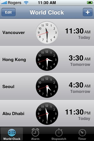 iPhone Clock Application