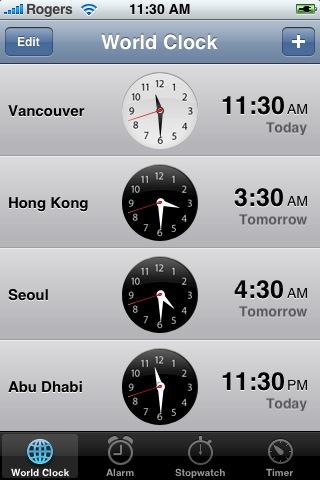 iPhone Clock Application