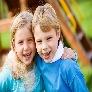 Children with braces