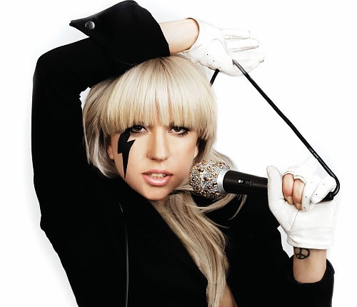 Lady Gaga with her signature look