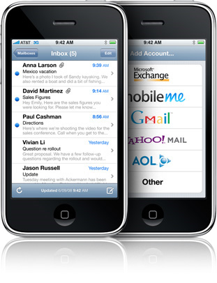 Mass Email on an iPhone