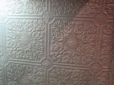 A piece of embossed wallpaper