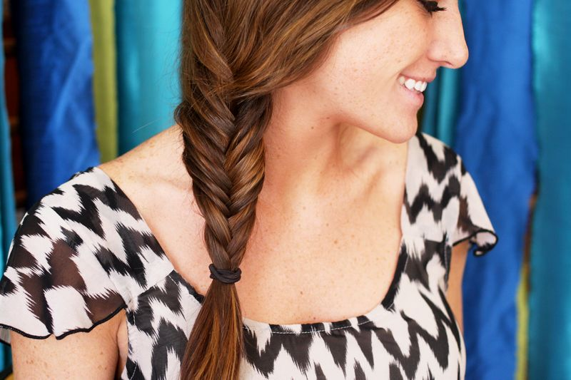 How to fishtail braid your own hair for Fish tail hair