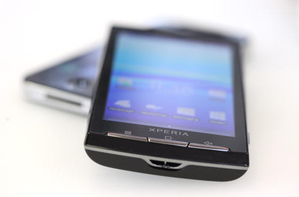 Sony Ericsson Xperia X10 smartphone running Android operating system