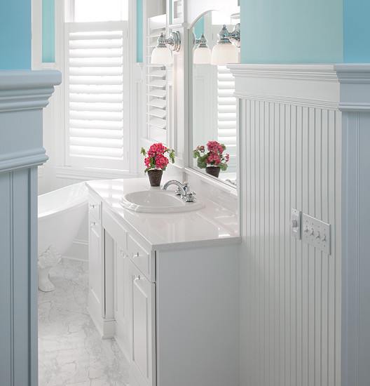 How to install beadboard paneling for Bead board in bathroom