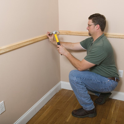 How To Install A Chair Rail Molding