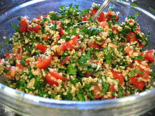 Finished tabouli salad