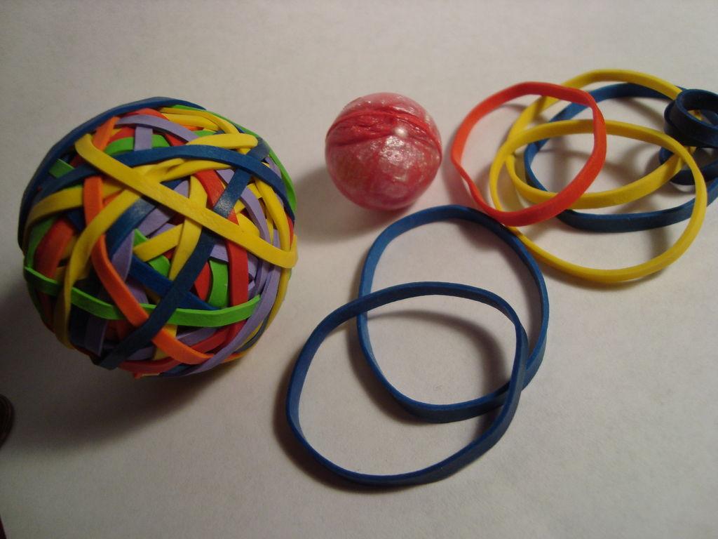 Rubber bands ball