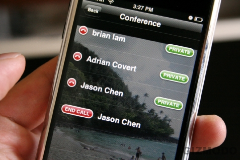 conference call on an iphone