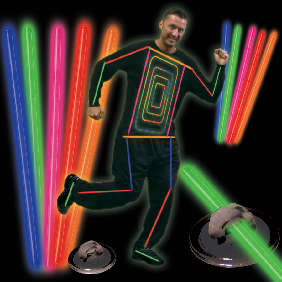 Glowstick Stick Costume looks great