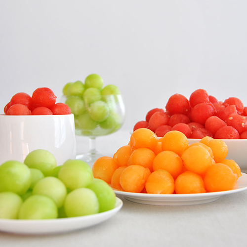 it to form a ball put all these balls in with the watermelon balls ...
