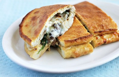 How To Make a Potato and Blue Cheese Calzone