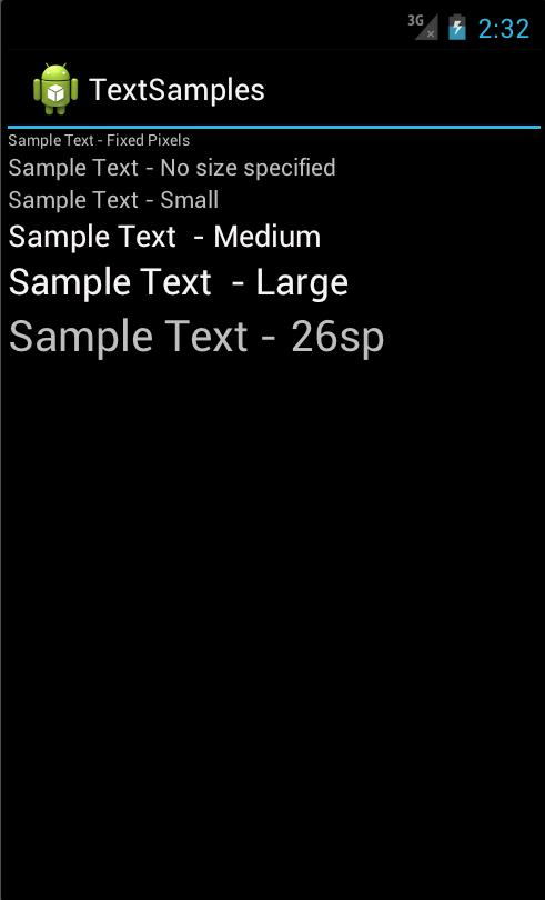 Android Text Size