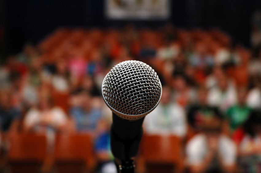 A mic for the speech