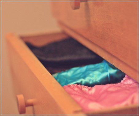 Clothes in dresser