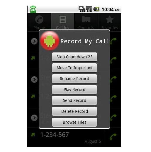 Call record in andriod