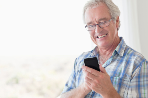 Man having iPhone in his hand