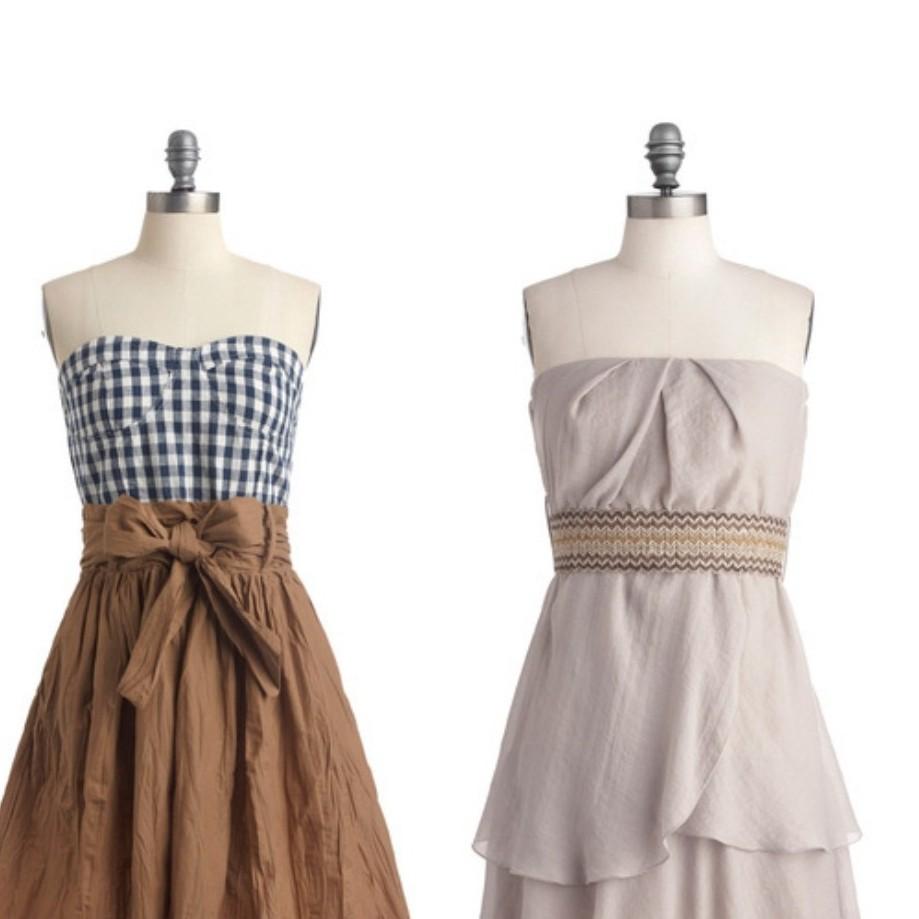 Bridesmaid Dresses on display