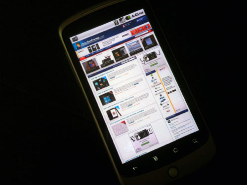 Android-powered smartphone's browser