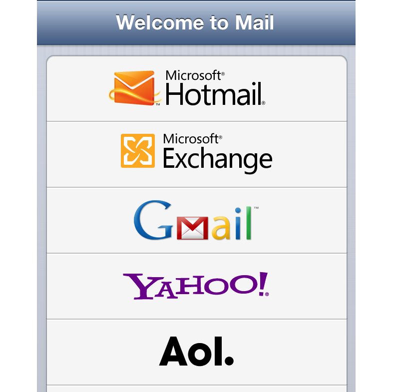 E-mail setup iPhone