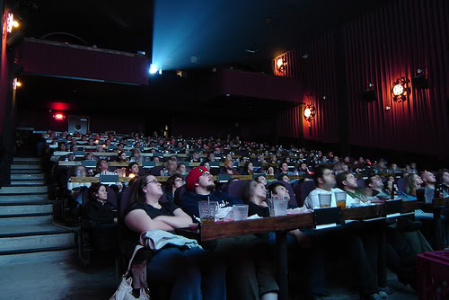 Candy and Food into a Movie Theatre