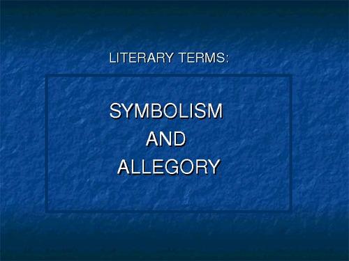 Allegory in Literature