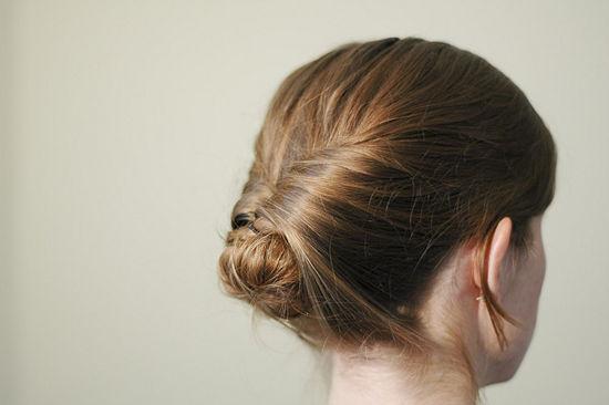 Style Your Hair Into an Upside Down Bun
