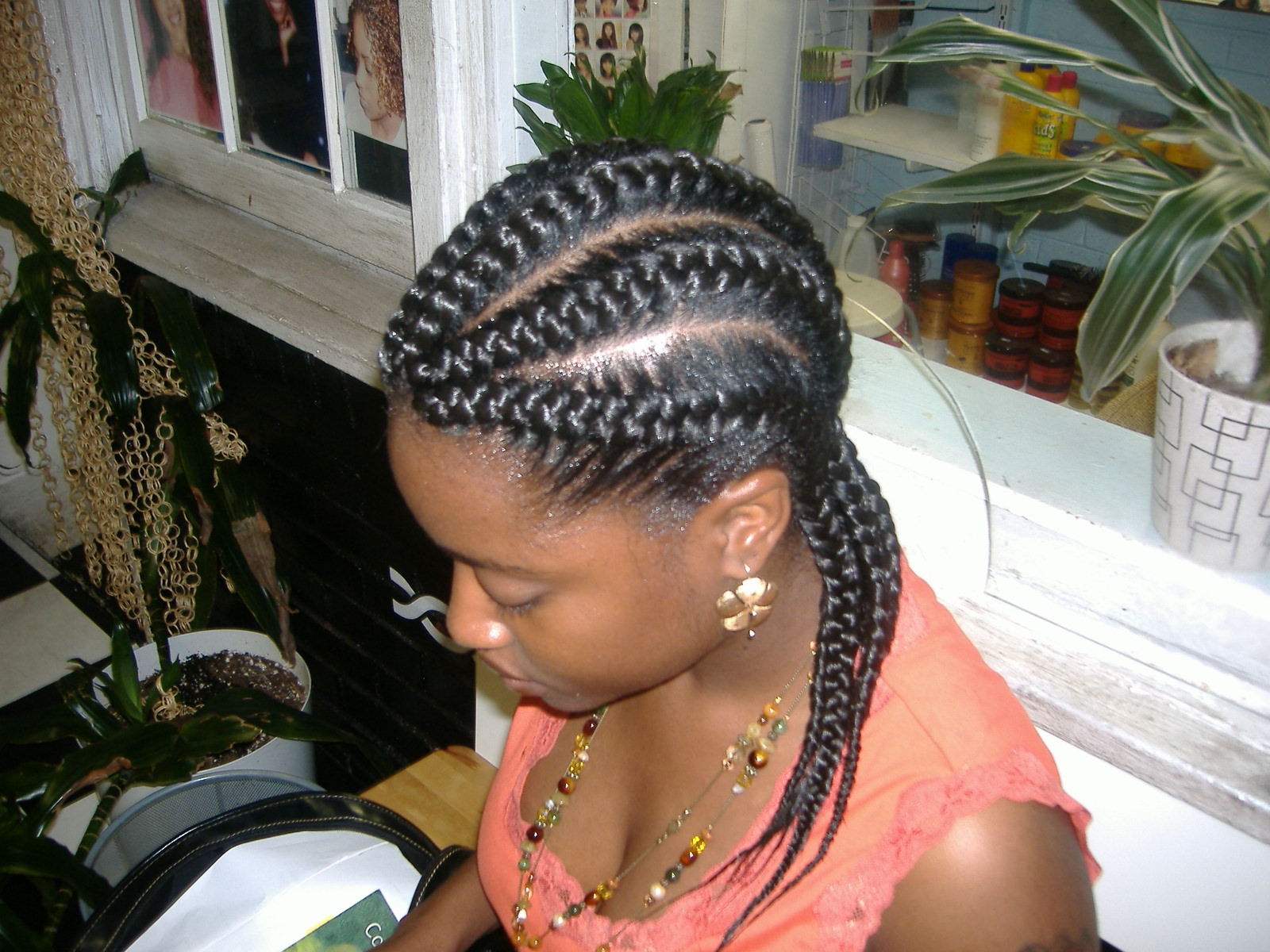 Black Hair Goddess Braid Hairstyle