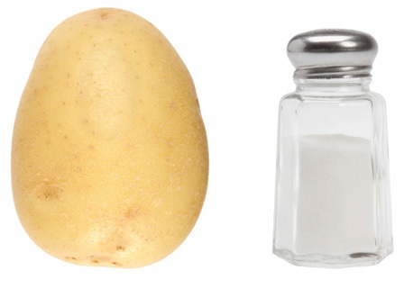 Potata and salt