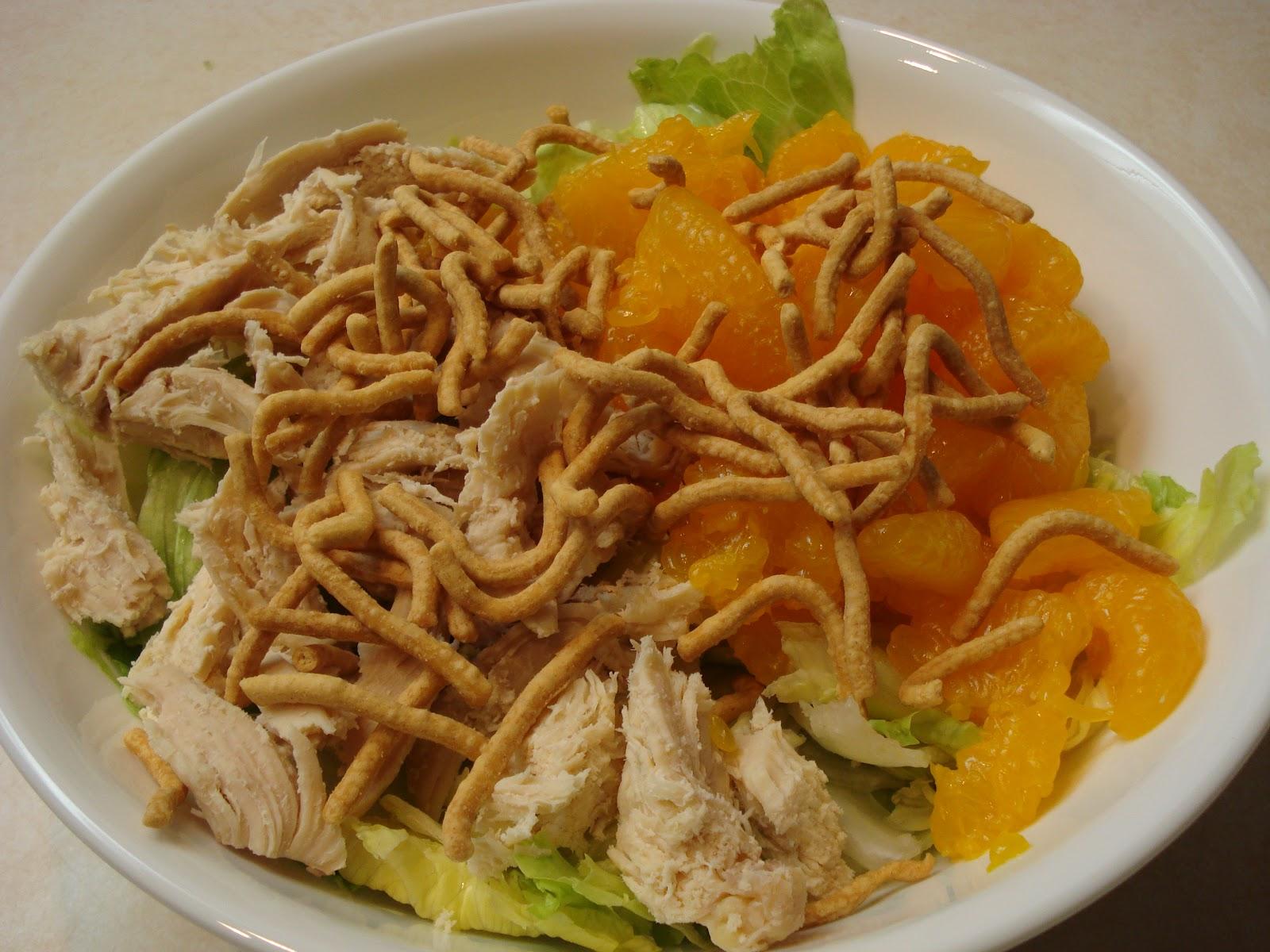 Mandarin Chicken Salad, very tasty