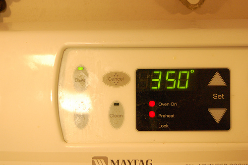 Preheating Oven