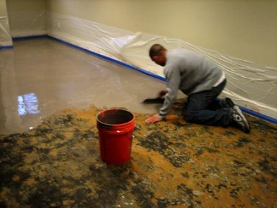 How to remove carpet glue from concrete for Removing concrete floor