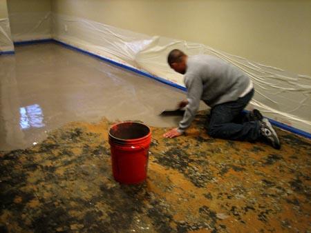 Remove Carpet Glue from Concrete