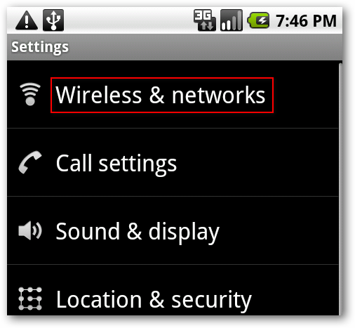 Wi-Fi Settings on Android