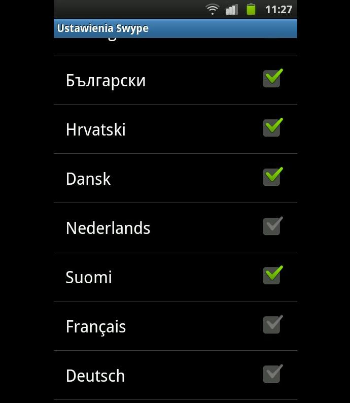 language in Android