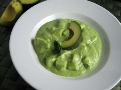 avocado soup with cucumber