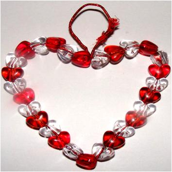 Beaded Heart for Valentine's Day