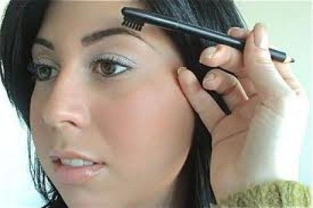 Brushing eyebrows