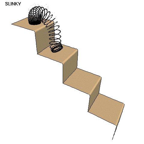 Build Indoor Slinky Steps