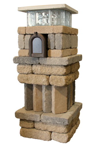 Mailbox with Patio Blocks