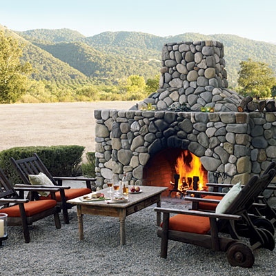 Build a Micro Sized Outdoor Fireplace