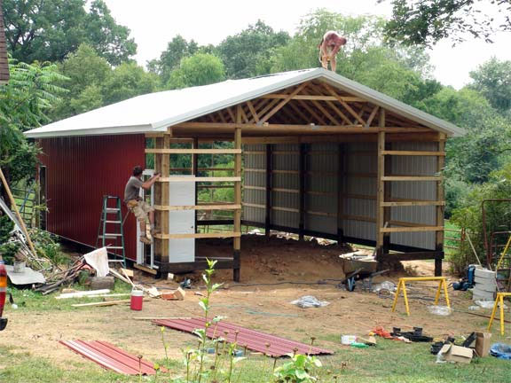 How to build a pole barn garage for How to build pole barn house