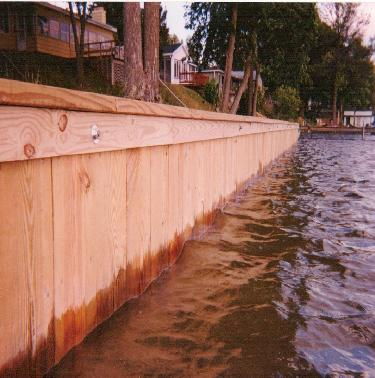 Build a Seawall on a Lake