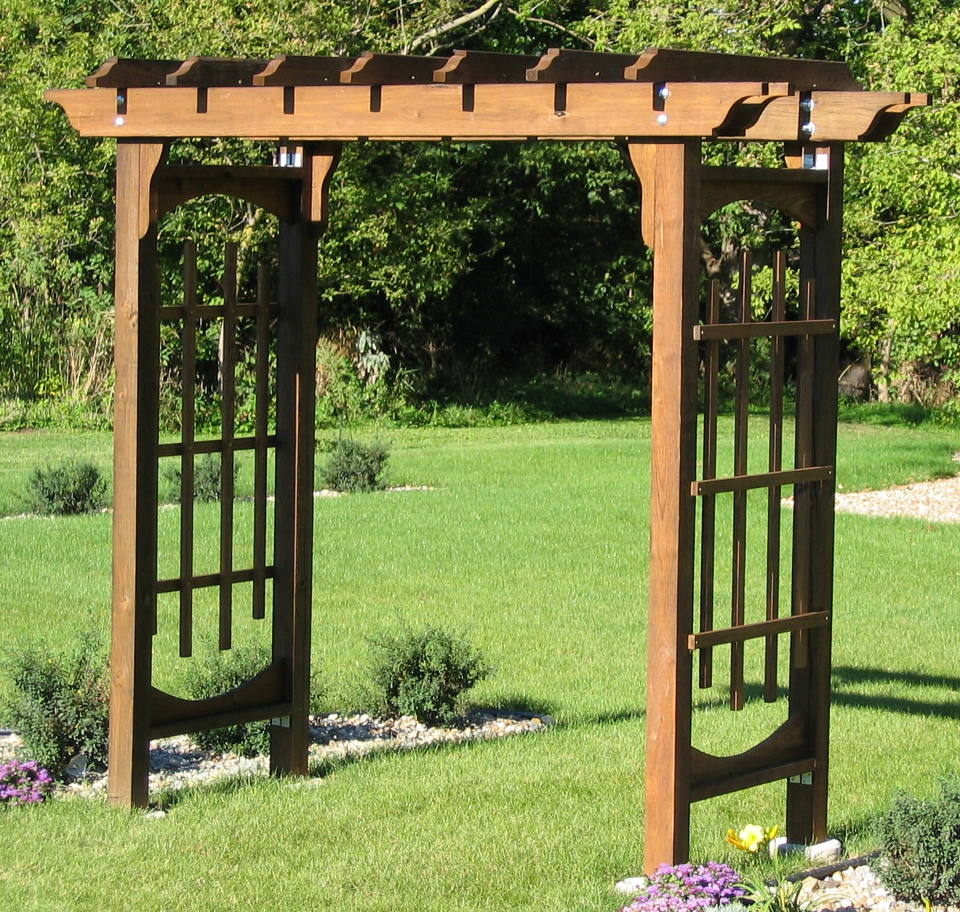 youtube how to build an arbor