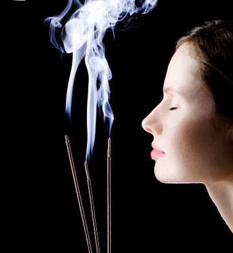 Enjoying incense