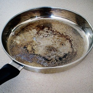Burned Food from Stainless Pan