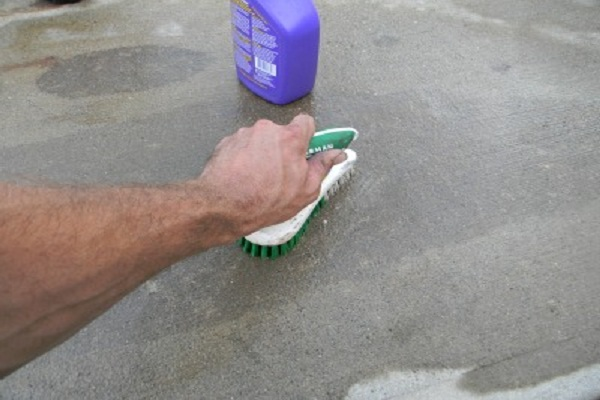 Oil Spills On Concrete